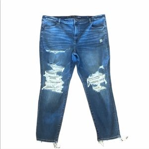 NWOT American eagle highrise distressed blue jeans